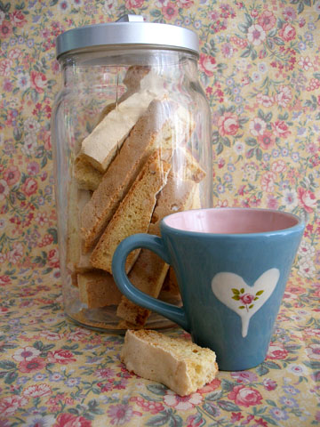 a jar of biscotti