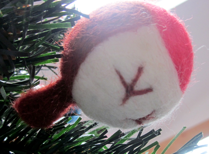 needlefelt robin decoration