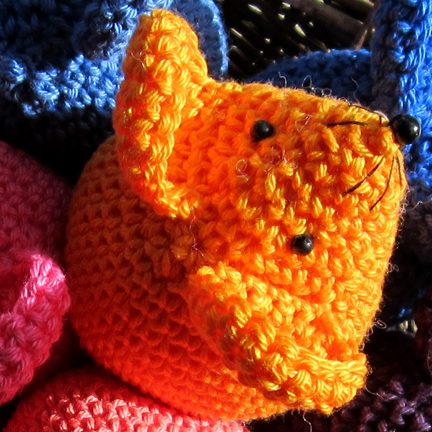 Crochet Mice using Planet Penny Cotton Colours rainbow yarn pack