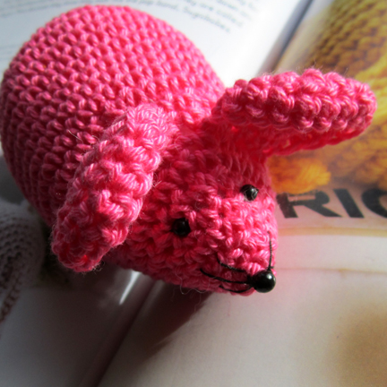Crochet Mice using Planet Penny Cotton Colours rainbow yarn pack - Crochet Mice