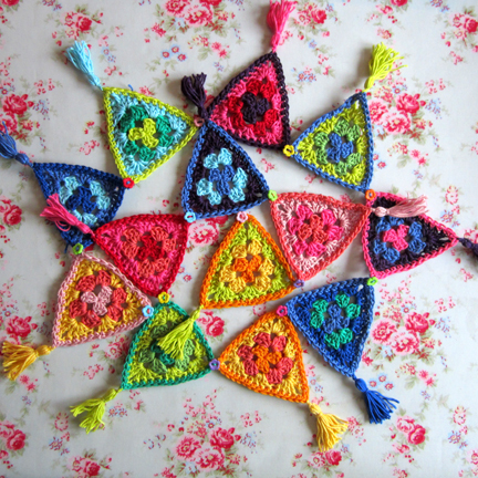 Carnival cotton crochet bunting pattern 169 planetpenny co uk