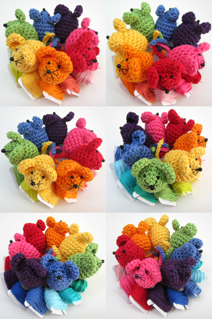 MiniMouseMontage. groups of crochet Mini Mice.