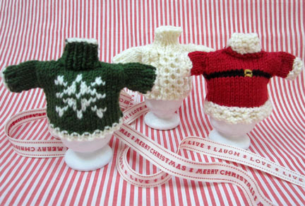 Debbie Bliss Christmas Jumper Egg Cosies