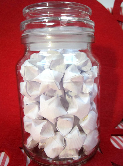 Origami stars in a jar Origami Stars -  Day three Planet Penny Advent Calendar