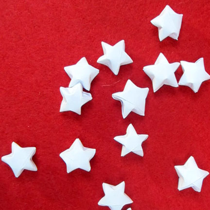 Origami Stars -  Day three Planet Penny Advent Calendar