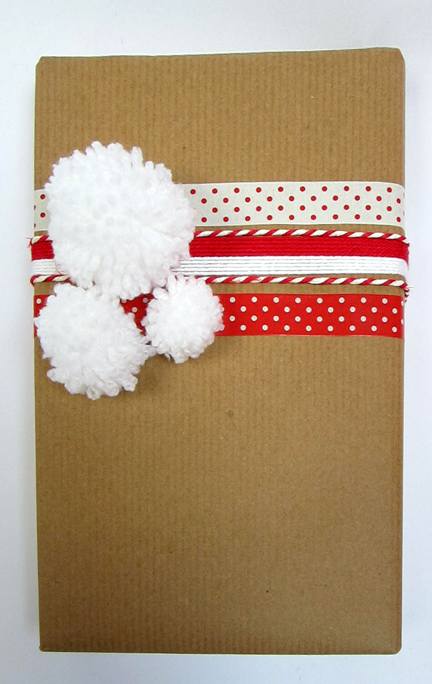 Pompom Giftwrap Advent Calendar Day Ten