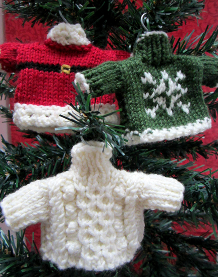 Christmas Jumper Tree decorations for Advent Calendar Day Fourteen