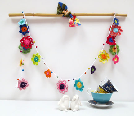 Mollie Makes crochet garland