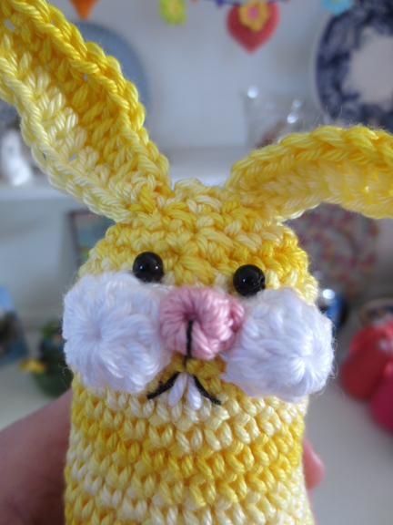 Easter Bunny - knitting and stitching