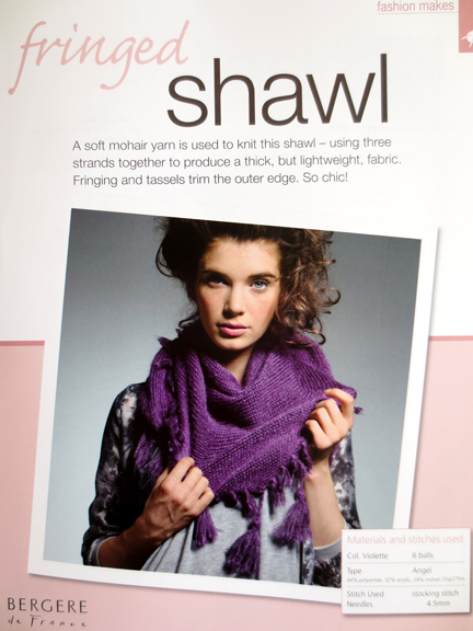 shawl - knitting and stitching