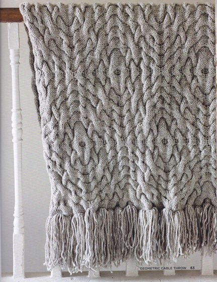 cable throw  -The Knitted Home - Ruth Cross