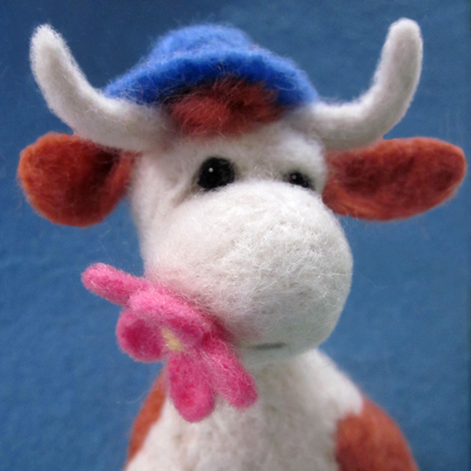 Needlefelt Cow