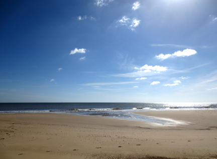 Norfolk beach and sun