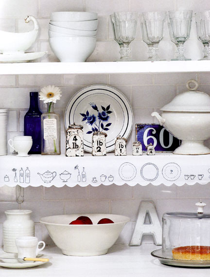Shelf edging - The Hand-Stitched Home
