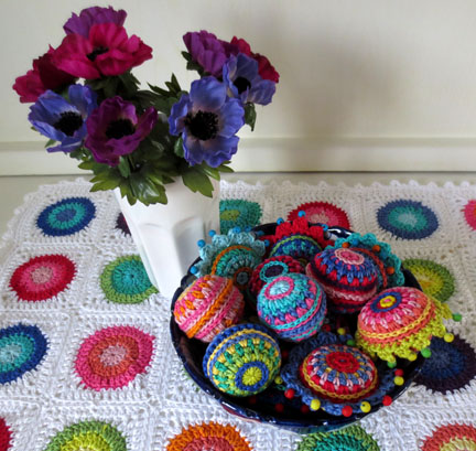 a bowlful of crochet balls