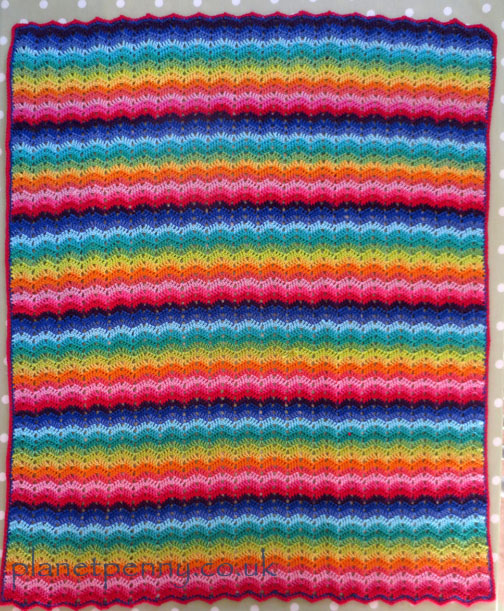 pram blanket - Planet PEnny cotton