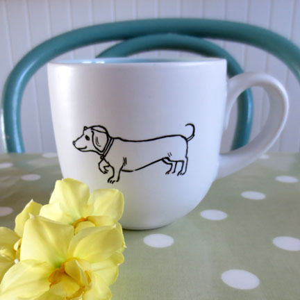 Mug with dachshund