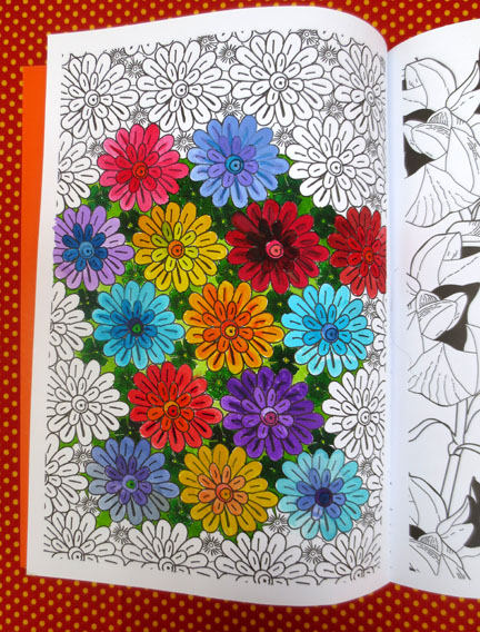 Mandala Flowers Art Therapy