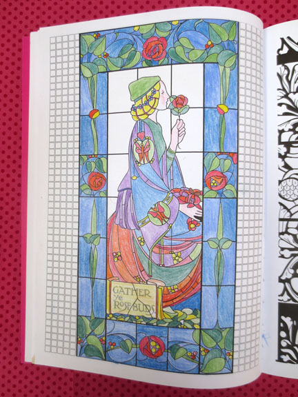 Art Therapy Stained Glass Colouring book