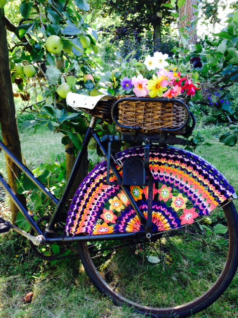 Crochet Skirt Guard made with Planet Penny Cotton Colours