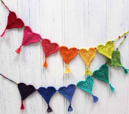 Crochet Heart Bunting for Little Hearts Matter