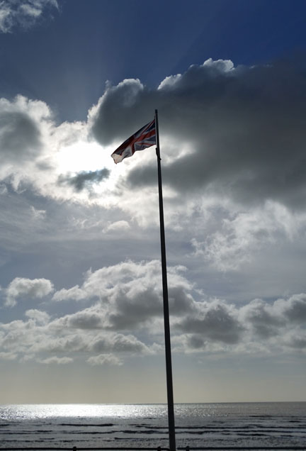 Flagpole at Bexhill South England