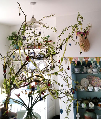 Easter Tree for Happy Friday